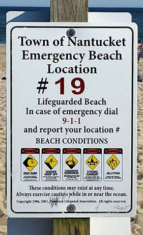 Emergency Beach Location | Nantucket, MA