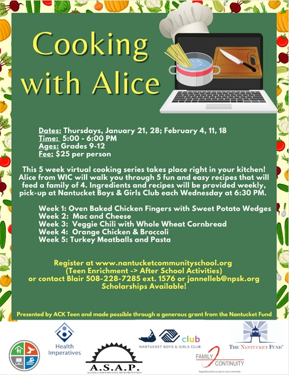 Cooking with Alice | Nantucket, MA