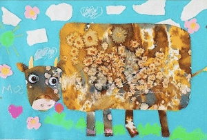 Art Grab & Go Bag: Watercolor Cow