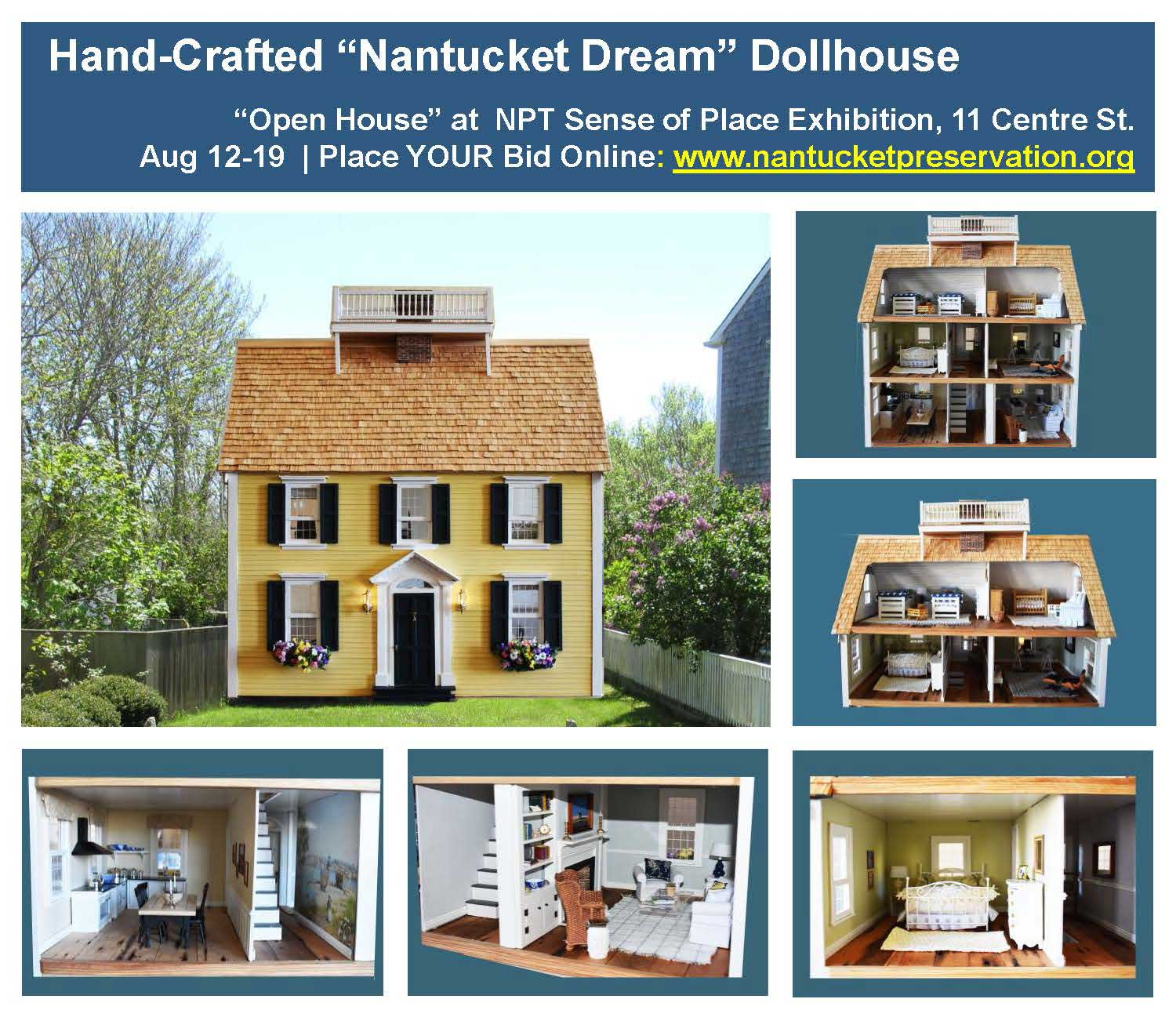"""Hand-Crafted """"Nantucket Dream"""" Dollhouse"""