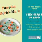 STEM Grab & Go Bag: Pumpkin Patch Marble Maze